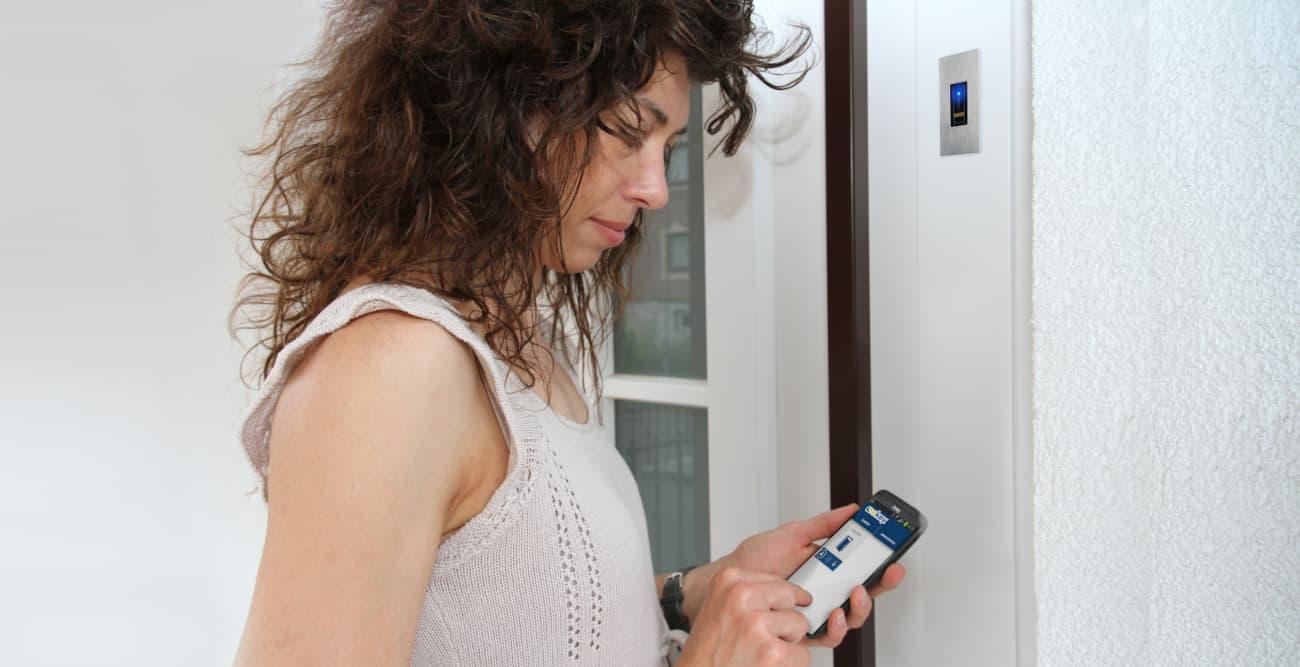 Kontrola dostępu ekey do zamontowania w drzwiach